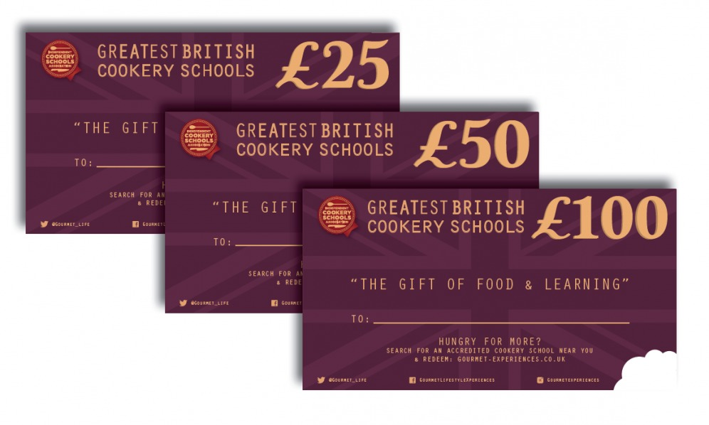 Cookery School Gift Vouchers