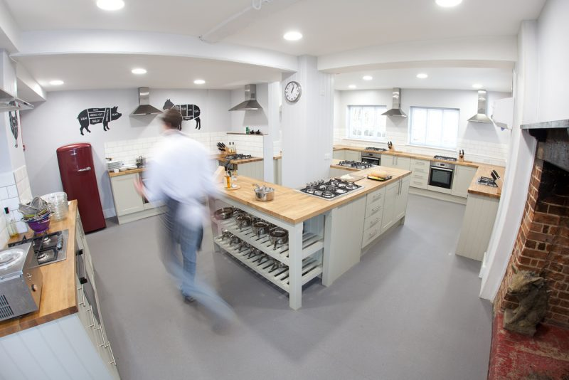 Abinger Cookery School Kitchen Accredited by ICSA